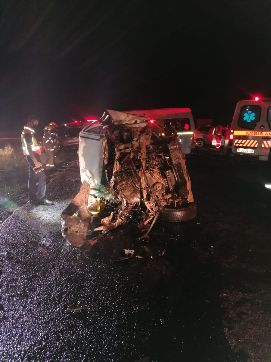 Three-vehicle collision leaves two dead, at least ten injured in Phola